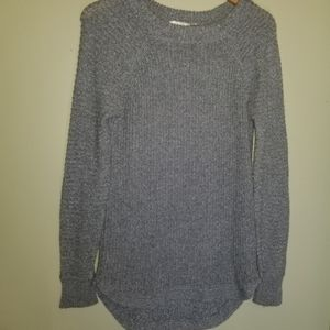 Retrod high low knit crew neck sweater